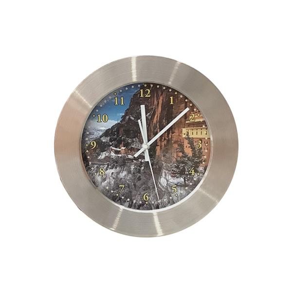 Ρολόι τοίχου στρογγυλό χοντρό ΙΝΟΧ