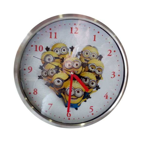 Ρολόι τοίχου στρογγυλό ΙΝΟΧ